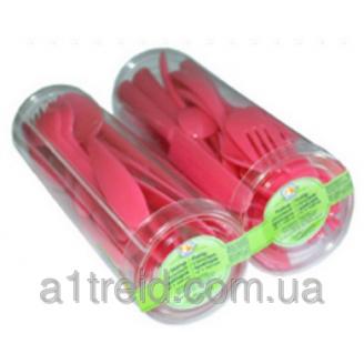 Набор столовых приборов пластиковых на 6 персон