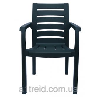 Кресло пластиковое Жимолость зеленое стул офисный пластиковый