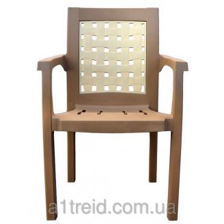 Кресло пластиковое Хризантема бежевое стул пластиковый