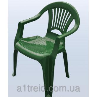 Стул пластиковый кресло Луч зеленый