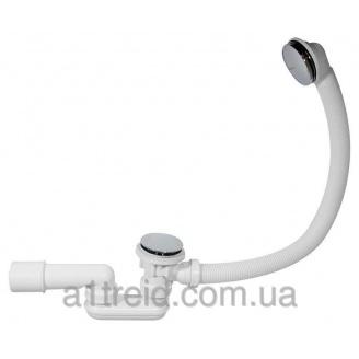 Сифон для ванны click-clack, металлический A504KM Alco Plast Алька Пласт