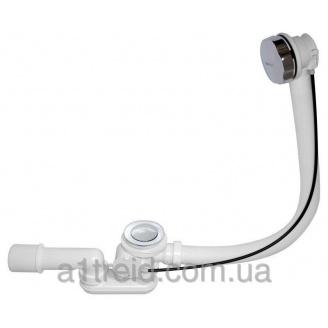 Сифон для ванны автомат комплект металл 120cm A55K-120 Alco Plast Алька Пласт