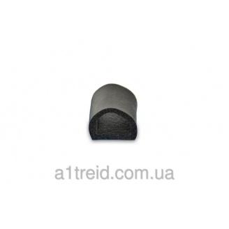 Уплотнитель самоклеющийся гаражный, 12*14мм, 40м, черный, Technics Ущільнювач самоклеючий гаражний, 12*14мм, 4
