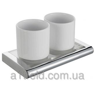 Стакан для зубных щеток двойной Haceka Viero 415408 Хасека Виеро
