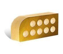 Облицовочный кирпич Литос Фасонный Малый Полукруг Гладкий пустотелый 250x120x65 мм слоновая кость