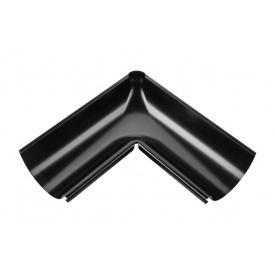 Внутрішній кут жолоба Акведук Преміум 90 градусів 125 мм чорний RAL 9005