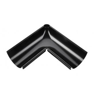 Внутренний угол желоба Акведук Премиум 90 градусов 125 мм черный RAL 9005