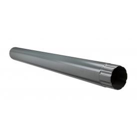 Водостічна труба Акведук Преміум 87 мм 1 м графітовий RAL 7011