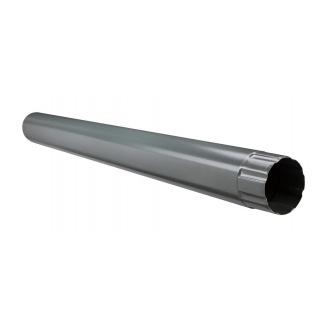 Водосточная труба Акведук Премиум 87 мм 1 м графитовый RAL 7011