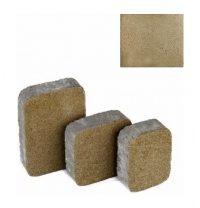 Тротуарная плитка ЮНИГРАН Царское село 40 мм оливка на сером цементе