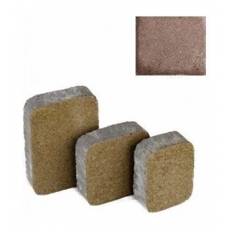 Тротуарная плитка ЮНИГРАН Царское село 40 мм каштан на сером цементе