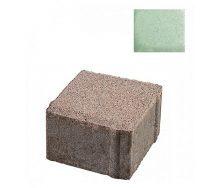 Тротуарная плитка ЮНИГРАН Евро 100х100х60 мм малахит на белом цементе