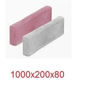 Поребрик садовый вибропрессованный 1000х200х80 см Серый