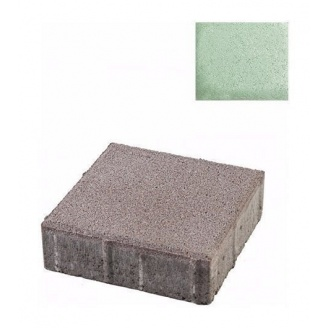 Тротуарная плитка ЮНИГРАН Квадрат 200х200х60 мм малахит на белом цементе
