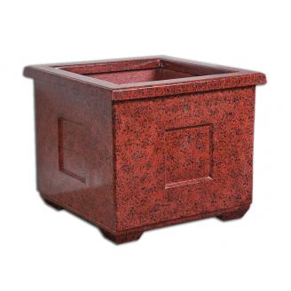 Цветник-кашпо квадратный 550х650х650 мм красный
