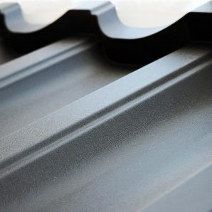 Металлочерепица Тайл Модерн матполиэстер 1195x350x53 мм серый