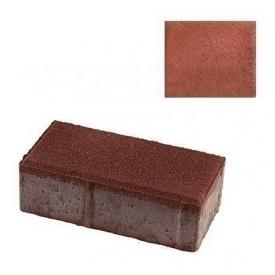 Тротуарна плитка ЮНІГРАН Цеглинка 200х100х60 мм вишня на сірому цементі