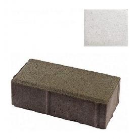 Тротуарна плитка ЮНІГРАН Цеглинка 200х100х60 мм перлина на білому цементі