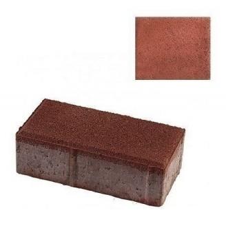 Тротуарная плитка ЮНИГРАН Кирпичик 200х100х60 мм вишня на сером цементе
