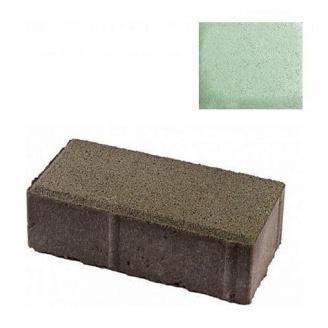 Тротуарная плитка ЮНИГРАН Кирпичик 200х100х60 мм малахит на белом цементе