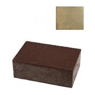 Тротуарная плитка ЮНИГРАН Монолит 240х160х80 мм оливка на сером цементе