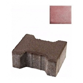 Тротуарна плитка ЮНІГРАН Двотавр 200х165х100 мм рубін на сірому цементі