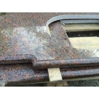 Столешница кухонная Withered из Новоданиловского красно-коричневого гранита 600х40 мм
