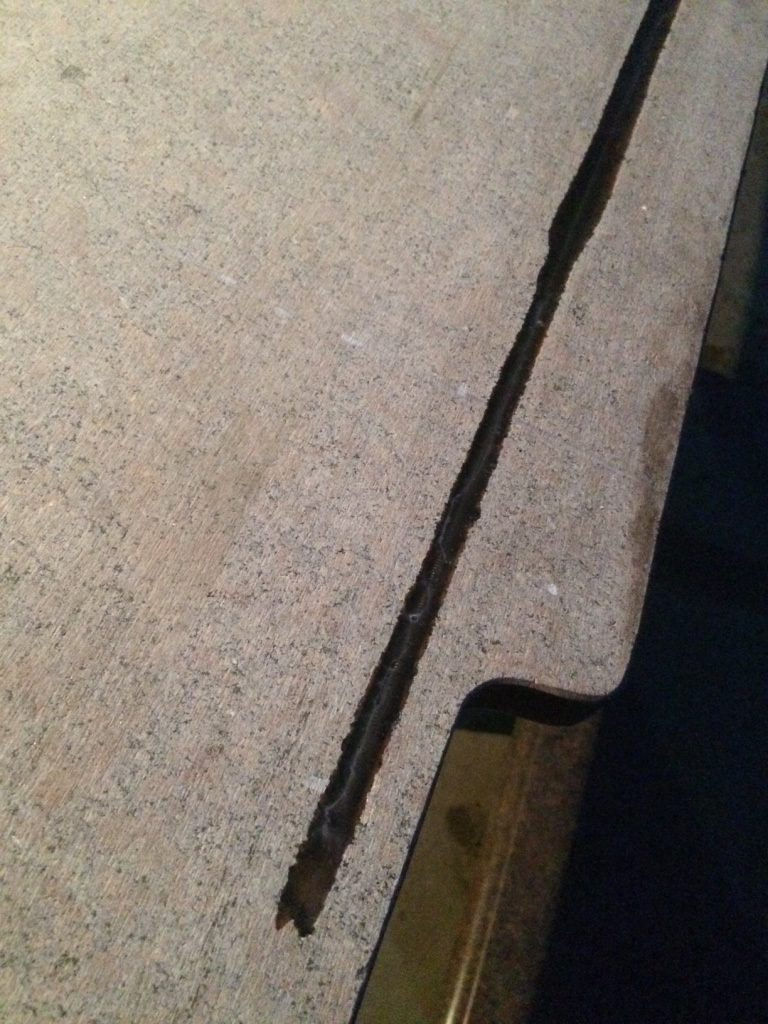 Армирование гранитных столешниц перед вырезом отверстия под мойку