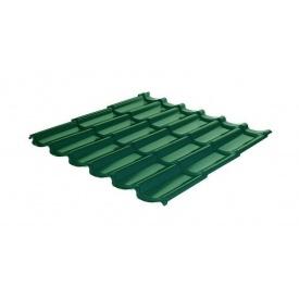 Металлочерепица RAUNI Standart 1180/1100 мм 0,5 мм MAT Polyester SeAH Steel (Корея) RAL 6002