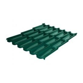 Металлочерепица RAUNI Premium 1180/1100 мм 0,5 мм MAT Polyester SeAH Steel (Корея) RAL 6005