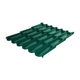 Металлочерепица RAUNI Premium 1180/1100 мм 0,45 мм MAT Polyester SeAH Steel (Корея) RAL 6005