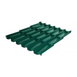 Металлочерепица RAUNI Premium 1180/1100 мм 0,45 мм Polyester SeAH Steel (Корея) RAL 6005