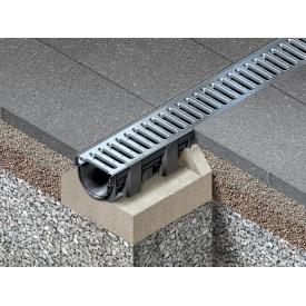 Желоб HAURATON TOP X с металлической решеткой 119x89x1000 мм