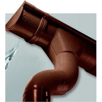 Злив металевий 87/70 коричневий