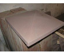 Крышка на столб Гладкая 450х450х75 мм серое
