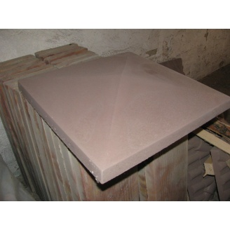 Кришка на стовп Гладка 450х450х75 мм коричнева
