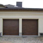 Ворота гаражные секционные Ryterna R40 woodgrain узкий гофр Old oak
