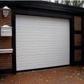 Ворота гаражные секционные Ryterna R40 stucco узкий гофр RAL 9016 белый