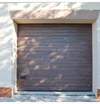 Ворота гаражные секционные Ryterna TLB woodgrain узкий гофр Walnut