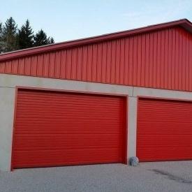 Ворота гаражні секційні Ryterna R40 stucco вузький гофр RAL 3000