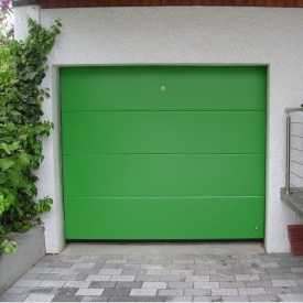 Ворота гаражні секційні Ryterna TLB slick дошка RAL 6018