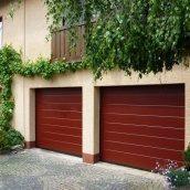 Ворота гаражні секційні Ryterna R40 slick широкий гофр RAL 3003