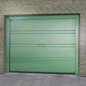 Ворота гаражні секційні Ryterna TLB slick верхня смуга RAL 6016