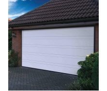 Ворота гаражные секционные Ryterna TLB slick верхняя полоса RAL 9016 белый