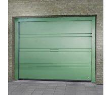 Ворота гаражные секционные Ryterna TLB slick верхняя полоса RAL 6016