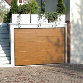 Ворота гаражные секционные Ryterna TLB slick широкий гофр Light Italianian Oak