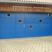 Ворота гаражні секційні Ryterna TLB slick мікросмуга RAL 5010
