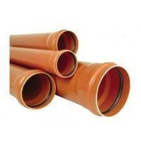 Труба ПВХ EVCI PLASTIK канализационная 110x3,2 мм 1 м
