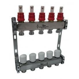 Коллектор стальной IVR 806 с расходомерами 1 дюйм 1300х200 мм (180622502)