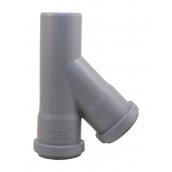 Тройник EVCI PLASTIK 50x50x50 мм 45 градусов серый